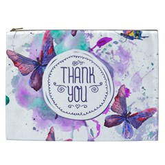 Thank You Cosmetic Bag (xxl)  by Celenk