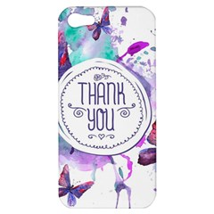 Thank You Apple Iphone 5 Hardshell Case by Celenk