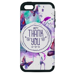 Thank You Apple Iphone 5 Hardshell Case (pc+silicone) by Celenk