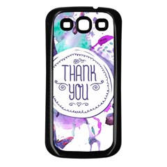 Thank You Samsung Galaxy S3 Back Case (black) by Celenk