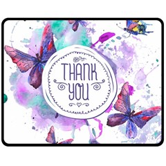 Thank You Double Sided Fleece Blanket (medium)