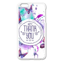 Thank You Apple Iphone 6 Plus/6s Plus Enamel White Case by Celenk