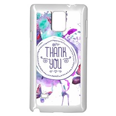 Thank You Samsung Galaxy Note 4 Case (white) by Celenk