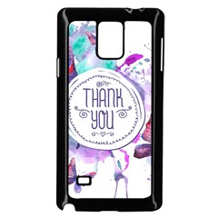 Thank You Samsung Galaxy Note 4 Case (black) by Celenk