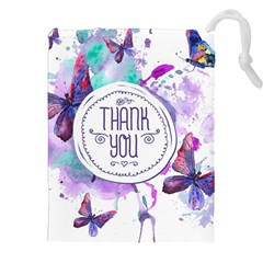 Thank You Drawstring Pouches (xxl) by Celenk