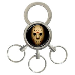 Jason Hockey Goalie Mask 3 Ring Key Chains by Celenk