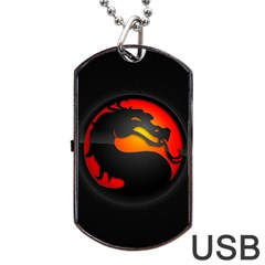 Dragon Dog Tag Usb Flash (one Side) by Celenk