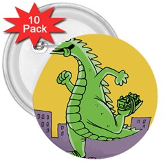 Dragon 3  Buttons (10 Pack)