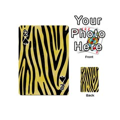 Skin4 Black Marble & Yellow Watercolor (r) Playing Cards 54 (mini)  by trendistuff