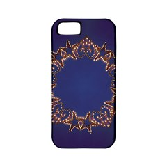 Blue Gold Look Stars Christmas Wreath Apple Iphone 5 Classic Hardshell Case (pc+silicone) by yoursparklingshop