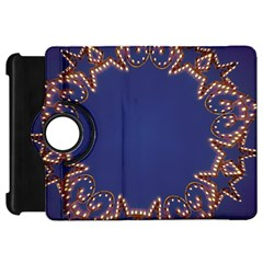 Blue Gold Look Stars Christmas Wreath Kindle Fire Hd 7  by yoursparklingshop