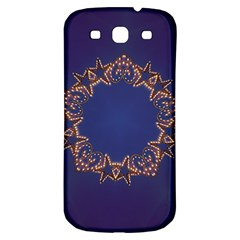 Blue Gold Look Stars Christmas Wreath Samsung Galaxy S3 S Iii Classic Hardshell Back Case by yoursparklingshop