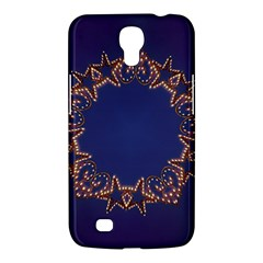 Blue Gold Look Stars Christmas Wreath Samsung Galaxy Mega 6 3  I9200 Hardshell Case by yoursparklingshop