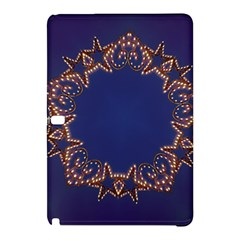 Blue Gold Look Stars Christmas Wreath Samsung Galaxy Tab Pro 10 1 Hardshell Case by yoursparklingshop
