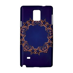 Blue Gold Look Stars Christmas Wreath Samsung Galaxy Note 4 Hardshell Case by yoursparklingshop