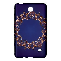 Blue Gold Look Stars Christmas Wreath Samsung Galaxy Tab 4 (8 ) Hardshell Case  by yoursparklingshop