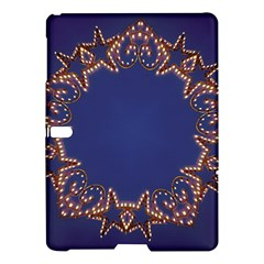 Blue Gold Look Stars Christmas Wreath Samsung Galaxy Tab S (10 5 ) Hardshell Case  by yoursparklingshop