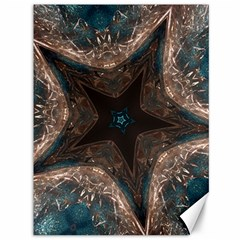 Kaleidoscopic Design Elegant Star Brown Turquoise Canvas 36  X 48   by yoursparklingshop