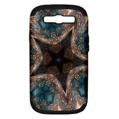 Kaleidoscopic Design Elegant Star Brown Turquoise Samsung Galaxy S Iii Hardshell Case (pc+silicone) by yoursparklingshop