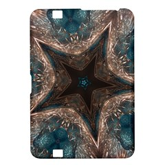 Kaleidoscopic Design Elegant Star Brown Turquoise Kindle Fire Hd 8 9  by yoursparklingshop
