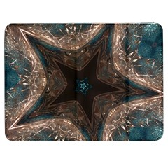 Kaleidoscopic Design Elegant Star Brown Turquoise Samsung Galaxy Tab 7  P1000 Flip Case by yoursparklingshop