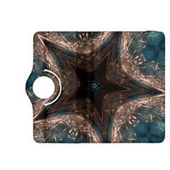 Kaleidoscopic Design Elegant Star Brown Turquoise Kindle Fire Hdx 8 9  Flip 360 Case by yoursparklingshop