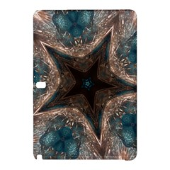 Kaleidoscopic Design Elegant Star Brown Turquoise Samsung Galaxy Tab Pro 12 2 Hardshell Case by yoursparklingshop