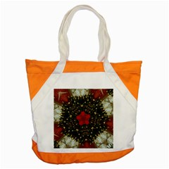 Christmas Wreath Stars Green Red Elegant Accent Tote Bag by yoursparklingshop
