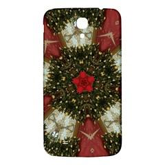 Christmas Wreath Stars Green Red Elegant Samsung Galaxy Mega I9200 Hardshell Back Case by yoursparklingshop
