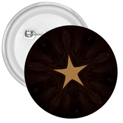 Rustic Elegant Brown Christmas Star Design 3  Buttons by yoursparklingshop