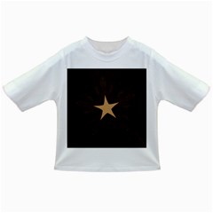Rustic Elegant Brown Christmas Star Design Infant/toddler T Shirts by yoursparklingshop