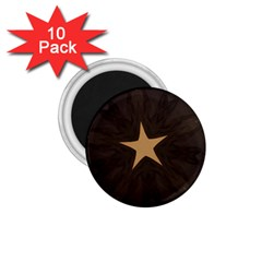 Rustic Elegant Brown Christmas Star Design 1 75  Magnets (10 Pack)  by yoursparklingshop