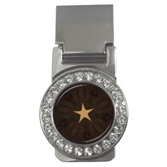 Rustic Elegant Brown Christmas Star Design Money Clips (cz)  by yoursparklingshop