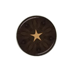 Rustic Elegant Brown Christmas Star Design Hat Clip Ball Marker (10 Pack) by yoursparklingshop