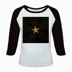 Rustic Elegant Brown Christmas Star Design Kids Baseball Jerseys by yoursparklingshop