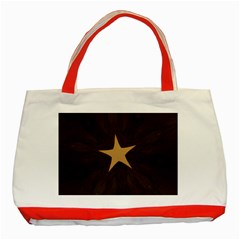 Rustic Elegant Brown Christmas Star Design Classic Tote Bag (red) by yoursparklingshop