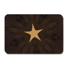 Rustic Elegant Brown Christmas Star Design Plate Mats by yoursparklingshop