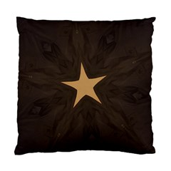 Rustic Elegant Brown Christmas Star Design Standard Cushion Case (two Sides) by yoursparklingshop