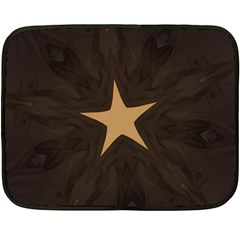 Rustic Elegant Brown Christmas Star Design Double Sided Fleece Blanket (mini)  by yoursparklingshop