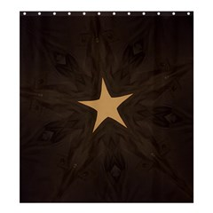 Rustic Elegant Brown Christmas Star Design Shower Curtain 66  X 72  (large)  by yoursparklingshop