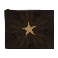 Rustic Elegant Brown Christmas Star Design Cosmetic Bag (xl) by yoursparklingshop
