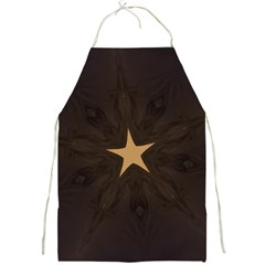 Rustic Elegant Brown Christmas Star Design Full Print Aprons by yoursparklingshop