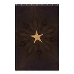 Rustic Elegant Brown Christmas Star Design Shower Curtain 48  X 72  (small)  by yoursparklingshop