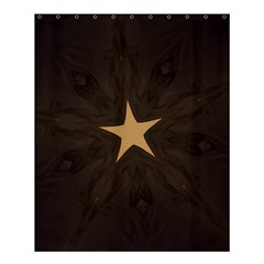 Rustic Elegant Brown Christmas Star Design Shower Curtain 60  X 72  (medium)  by yoursparklingshop
