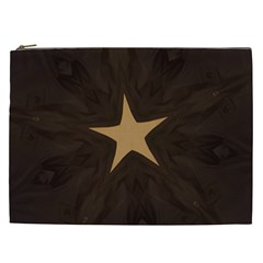 Rustic Elegant Brown Christmas Star Design Cosmetic Bag (xxl)  by yoursparklingshop