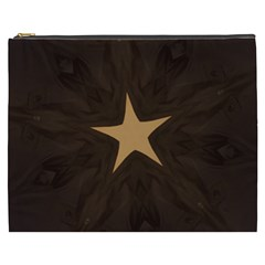 Rustic Elegant Brown Christmas Star Design Cosmetic Bag (xxxl)  by yoursparklingshop