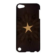 Rustic Elegant Brown Christmas Star Design Apple Ipod Touch 5 Hardshell Case by yoursparklingshop