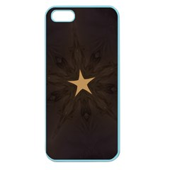 Rustic Elegant Brown Christmas Star Design Apple Seamless Iphone 5 Case (color) by yoursparklingshop