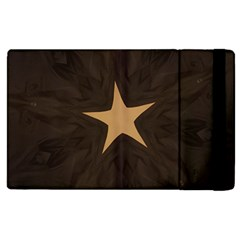 Rustic Elegant Brown Christmas Star Design Apple Ipad 3/4 Flip Case by yoursparklingshop