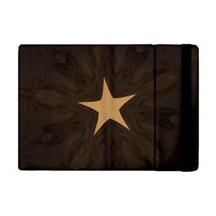 Rustic Elegant Brown Christmas Star Design Apple Ipad Mini Flip Case by yoursparklingshop